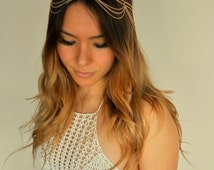 Bohemian Fashion Metal Head Chain Jewelry - Chandelier Chain