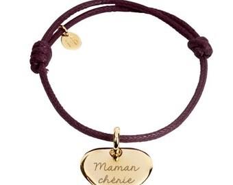 Personalized Silver heart bracelet
