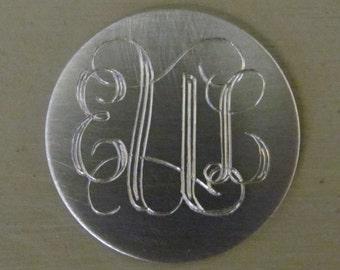 Aluminum Monogrammed Disc