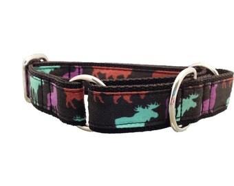 Mountain Wildlife Martingale Dog Collar