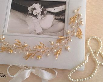 20%OFF- Bridal Crown,Bridal Headband, Wedding Hair Accesories, Wedding Tiara, Bridal Hair Vine, Boho Bridal Headpiece, Wedding Crown