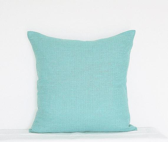 Decorative Azure Sky Blue Pillow Bright Blue Pillow Cover