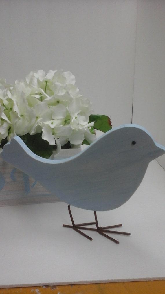 Little Wooden Blue Bird Home Decor