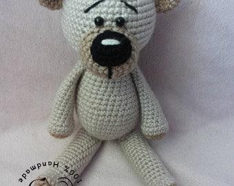 Spencer The Teddy Bear crochet pattern, simple teddy bear