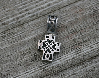 Vintage Sterling Silver Filigree Cross Pendant