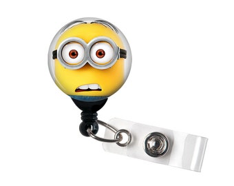 Minion, Minions Badge reel, ID Badge holder, retractable badge reel, What?
