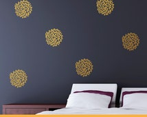 Chrysanthemum Spark | Pattern Animals Kids Nursery | Removable Wall Decal Sticker | MS125VC