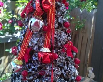 Silver Cone Christmas Tree