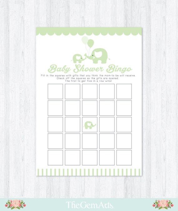 elephant baby shower game diy baby shower game baby shower bingo game