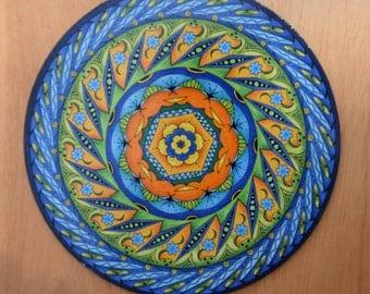 "8"" Mandala Wall Art - ""Bonnie Blue"""