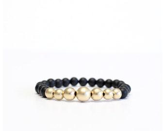 Matte Gold Bead Bracelet