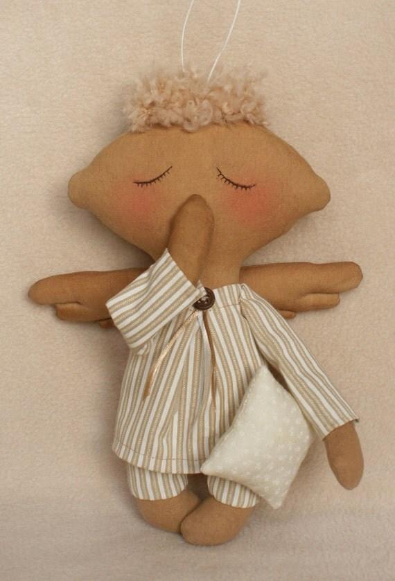 Diy Kit Rag Doll Making Simple Sleeping Angel Boy Tilda