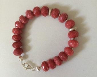 Reprocessed Ruby Bracelet