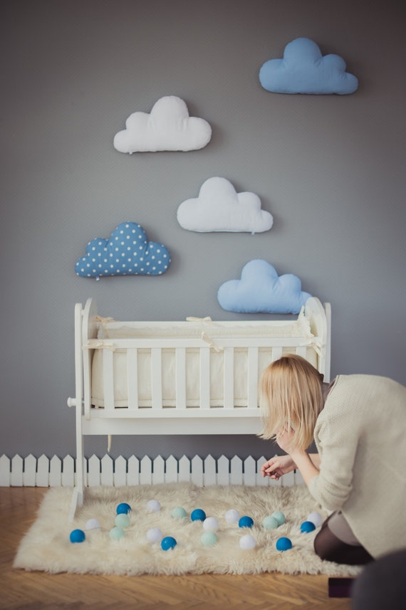 Kids stuffed cloud shaped pillow gift ideas baby toddler for Baby welcome home decoration