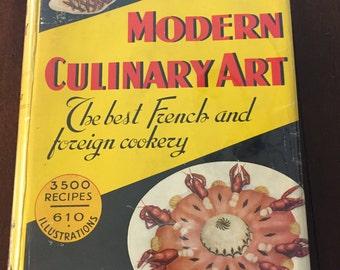 Modern Culinary Art, 1950 vintage cookbook