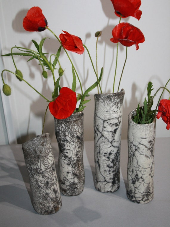 c ramique raku vase imitation boulot petit pot de fleur pour. Black Bedroom Furniture Sets. Home Design Ideas