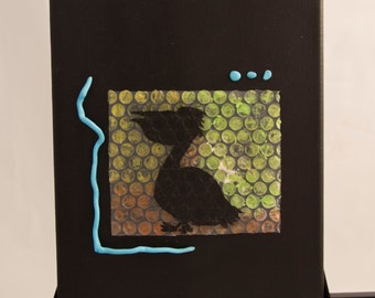 Mixed media, canvas, nautical, one of a kind, original artwork