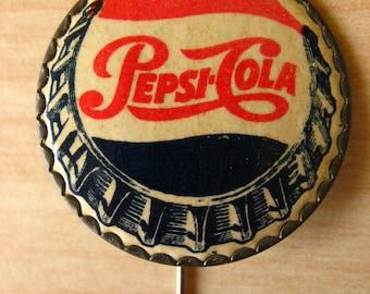 Original rare 1950's Pepsi Cola Advertisers lapelpin.