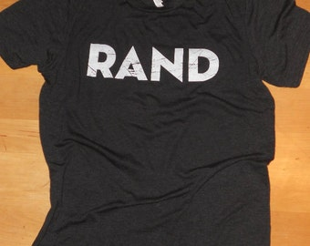 "Rand Paul for President T-shirt (Men's or Women's), super-comfy triblend, with simple ""RAND"" logo"