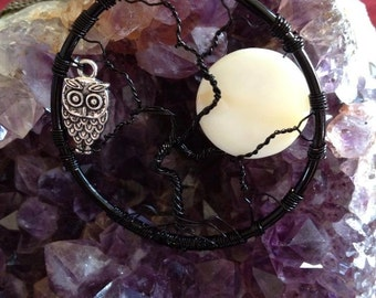 Tree of Life with Mother of Pearl moon