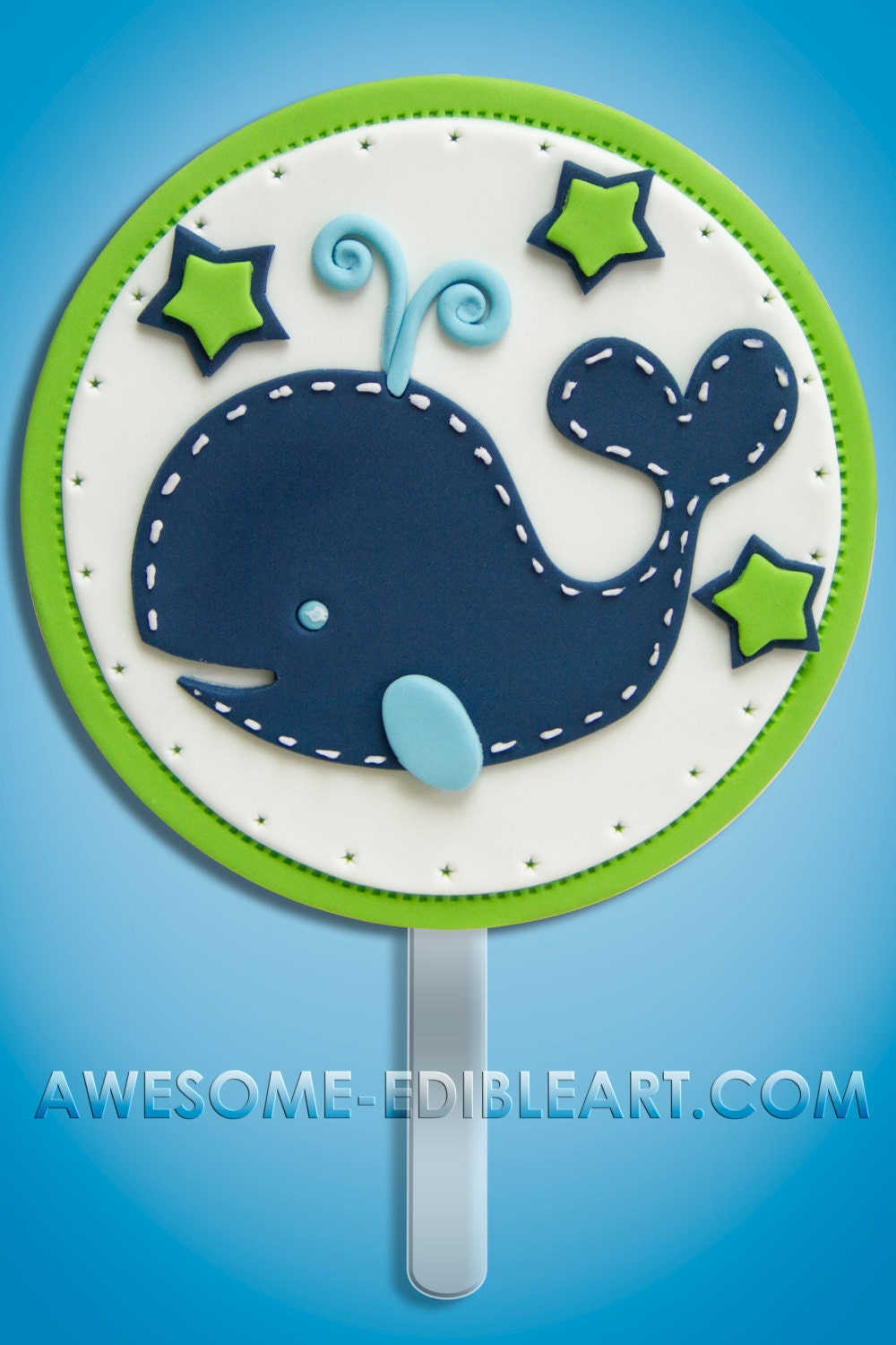 Fondant Cake Topper: Baby Shower Whale by AwesomeEdibleArt ...
