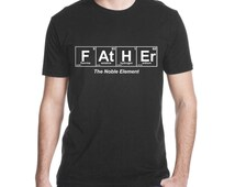 Unique expectant fathers related items etsy for Custom periodic table t shirts