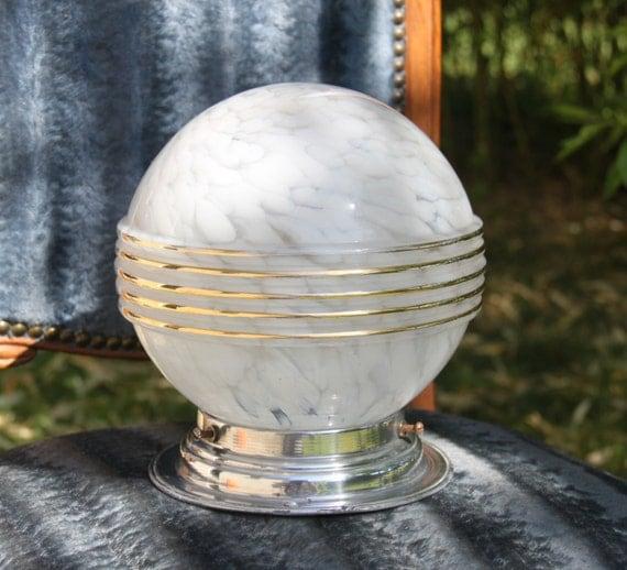 antique plafonnier boule verre clichy lampe art d co. Black Bedroom Furniture Sets. Home Design Ideas