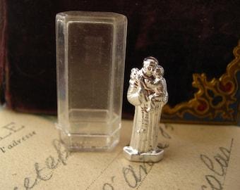 Saint Anthony of Padua - Pocket shrine- vintage French Religious collectible