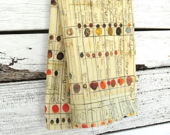 MOTHER'S DAY GIFTS, Linen Tea Towel - Antique Color Chart, Made to Order