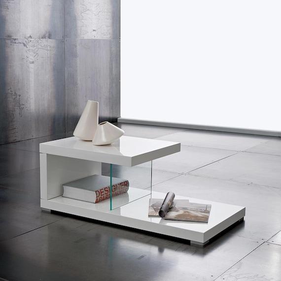 Tavolino basso salotto porta tv con 2 ripiani legno di eglooh