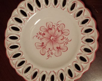 Hand Painted Alcobaca Plate Made in Portugal