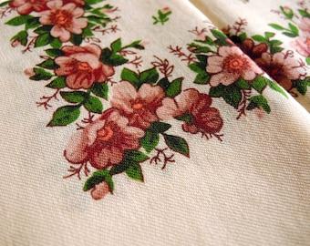 Vintage woolen shawl Woolen scarf with floral pattern #66