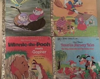 Items Similar To Lot Of 5 Vintage Walt Disney Golden