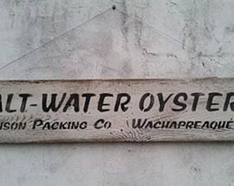 Salt Water Oyster Sign