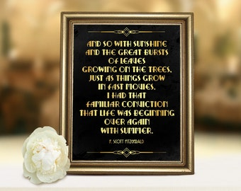 Great Gatsby Quote Etsy
