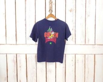 90s dark blue Dr Suess Green Eggs and Ham cotton tshirt/Sam I Am All Star basic tee/minimalist