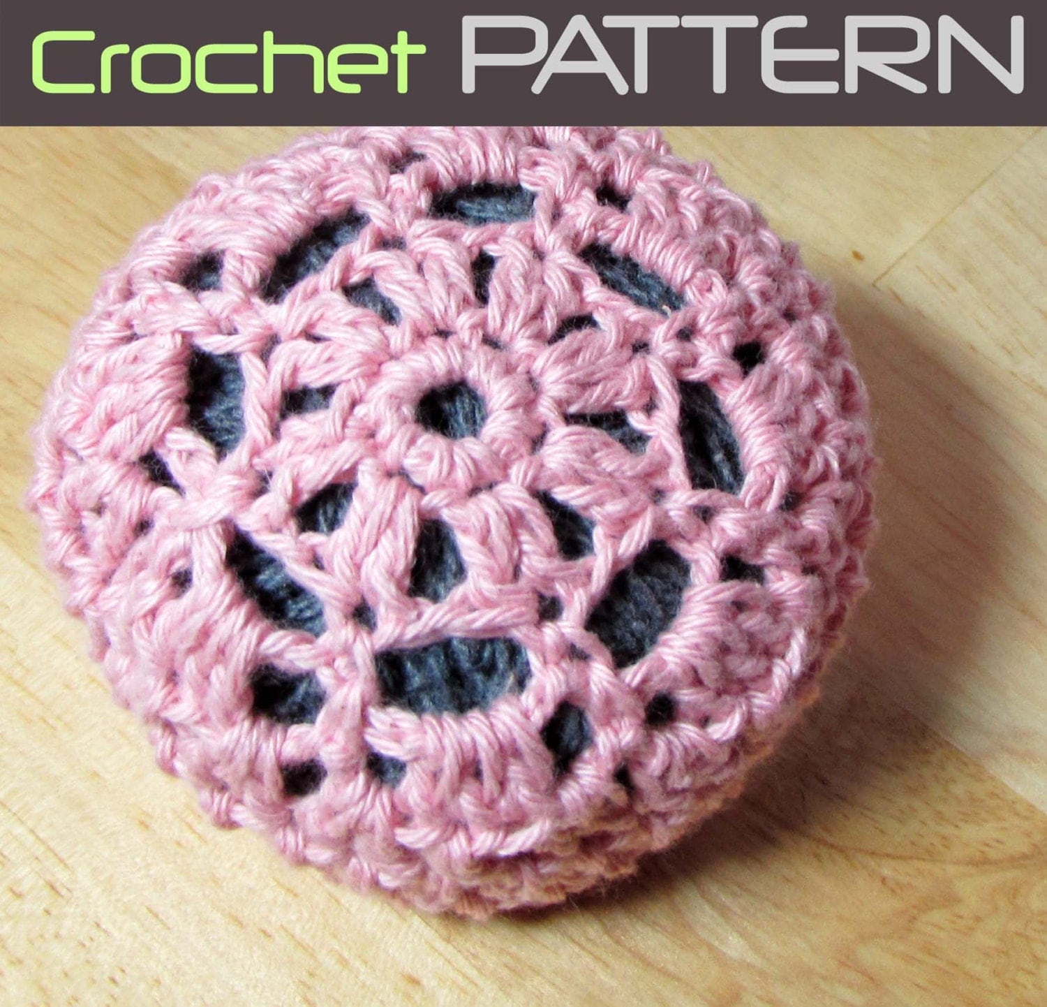 Crochet Hair Net Bun Cover Pattern : Crochet Pattern for Hair Bun Cover Floral Hair by KnitteryDesigns