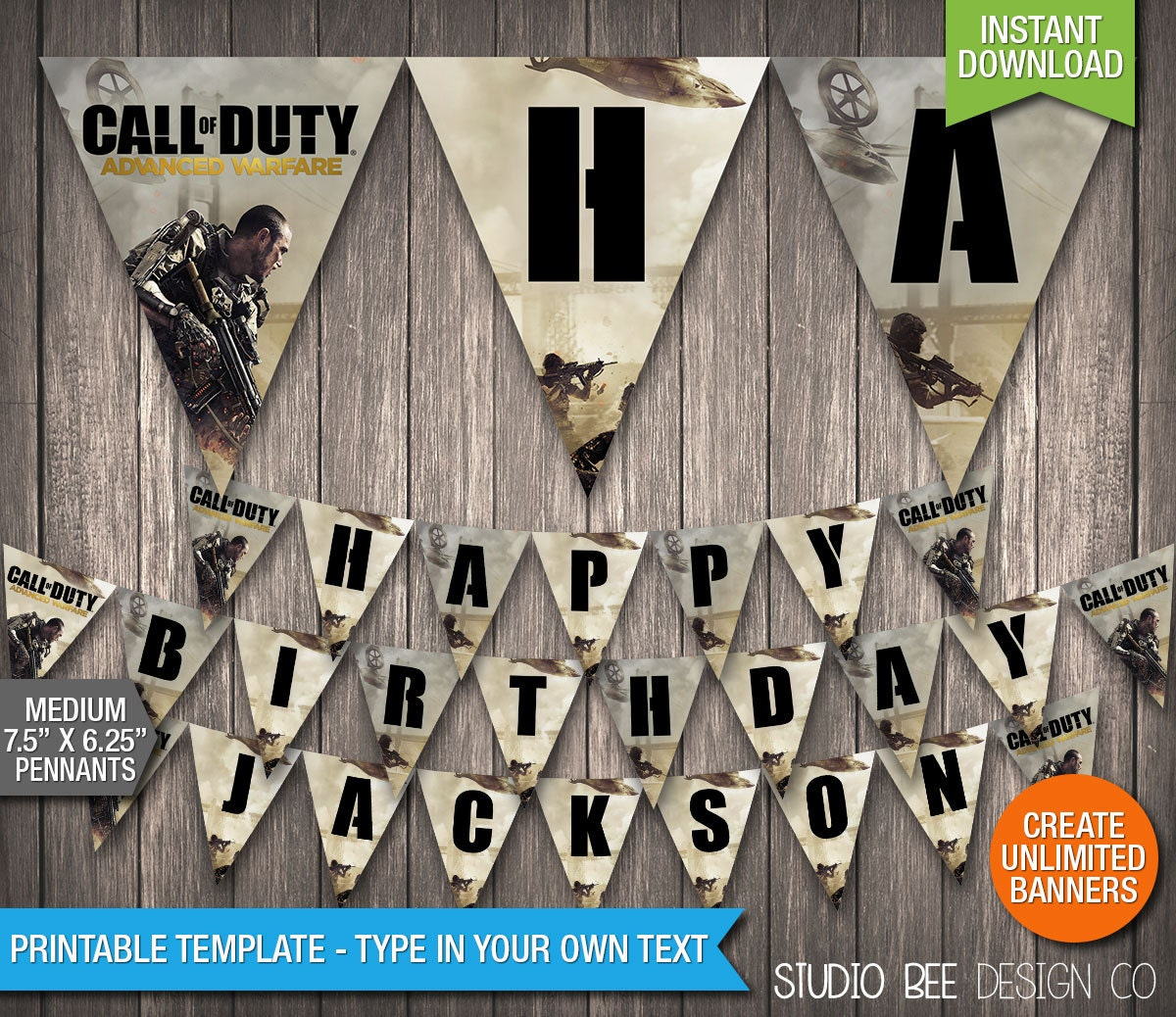 Call Of Duty Advanced Warfare Banner INSTANT By