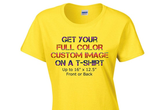 Create Your Own Full Color Custom Ladies Womens T Shirt Image