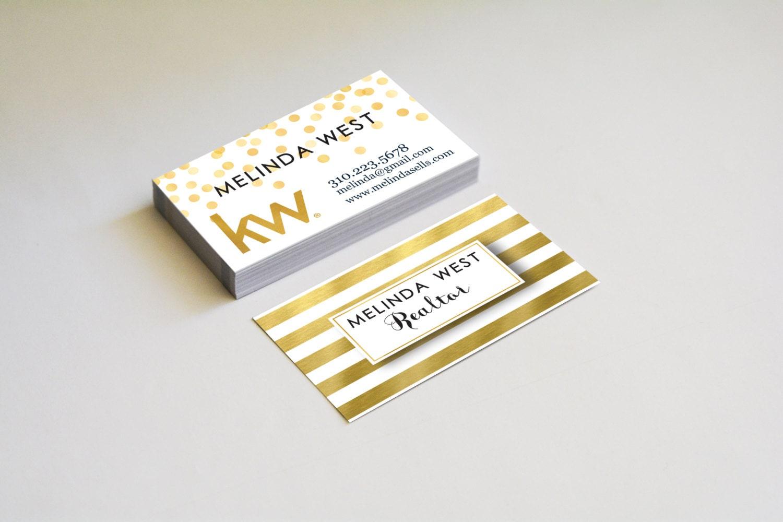 Real estate business cards gold foil elegant by for Business cards gold foil