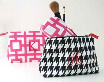 Monogrammed Cosmetic Bag // University of Alabama Cosmetic Bag // Houndstooth Cosmetic Bag