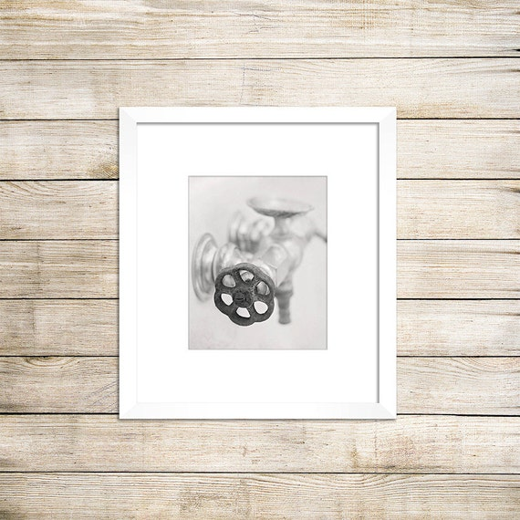 White Wall Decor For Bathroom : Black and white photo bathroom wall decor by