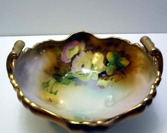 Hand Painted Footed Bowl