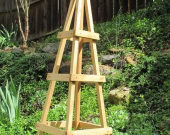 GARDEN TOWER OUTDOOR Decor Obelisk Climbing Plants Tuteur Cedar Patio (Short Ver)