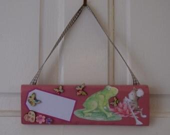 Childs door sign, name sign, nursery decor, girls bedroom