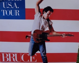 1984-85 Tour Programs and Book - Bruce Springsteen Born in the U.S.A. (3 items)
