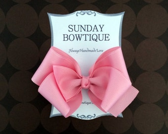 Light Pink Hair Bow, Boutique Hair Bow, Pink Hair Bow, Pastel Hair Bow, Pastel Pink Hair Bow, Easter Hair Bow, Spring Hair Bow, Bow
