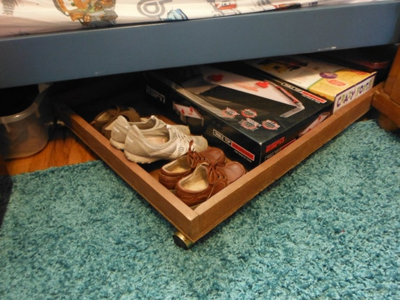 Under Bed Storage Rolling Drawer By Themainewoods On Etsy