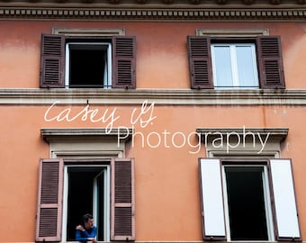 Out The Window - Italian Street Photography Print and Canvas