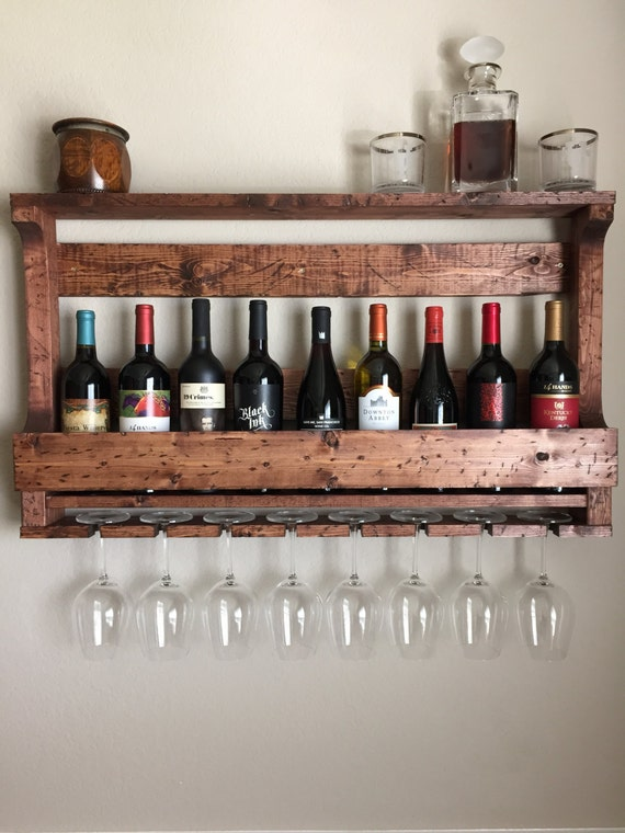 Items Similar To Rustic Wine Rack Wooden Wine Rack Pallet